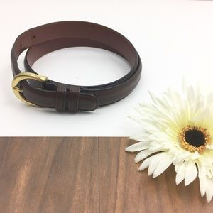 Brown Coach Leather Glove Tanned Cowhide Belt Med